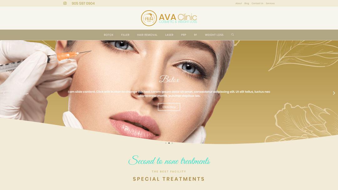 AVA Clinic Web Design